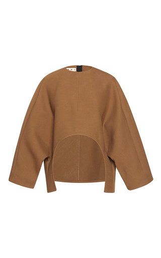 Medium marni tan oversized sleeve top