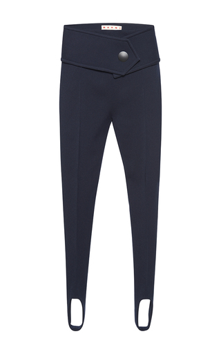 Medium marni navy stirrup trousers  3