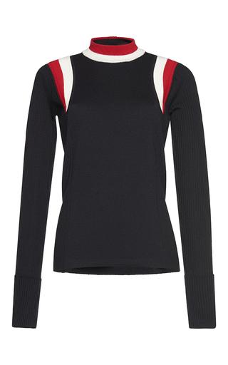 Medium marni black long sleeve mock neck sweater