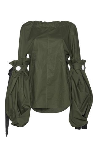 Medium marni green balloon sleeve blouse  4