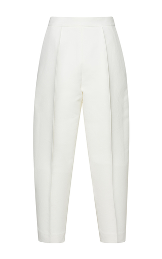 Medium marni white high waisted pleated trousers  3