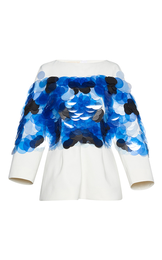 Medium marni white sequin long sleeve top