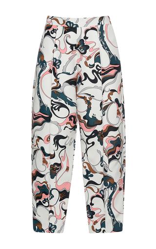 Medium marni multi printed pleated trousers