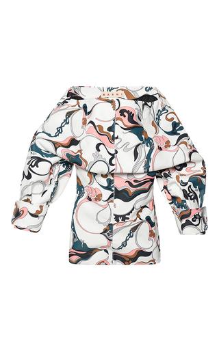 Medium marni multi long sleeve boat neck blouse