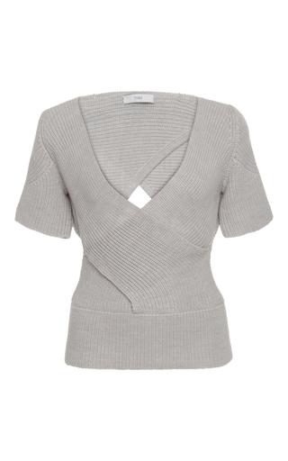 Medium tome light grey short sleeve bandage top