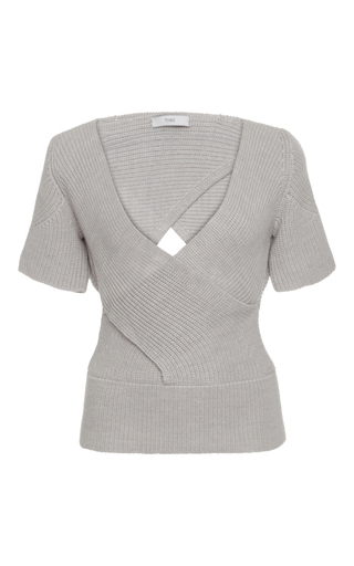 Medium tome light grey short sleeve bandage top