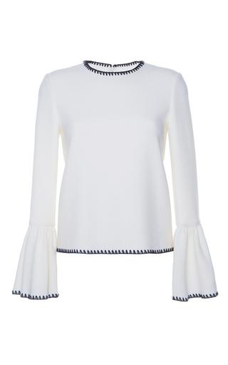 Medium huishan zhang white aphra wool blouse
