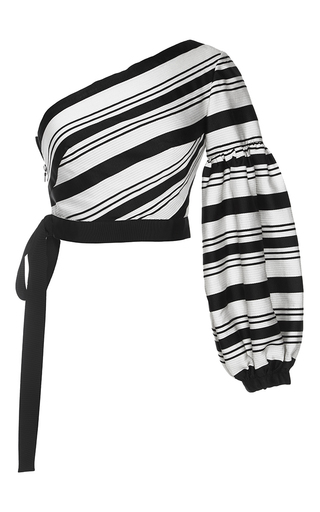Medium alexis stripe toby one sleeve top