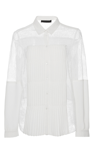 Medium alexis white watson lace top