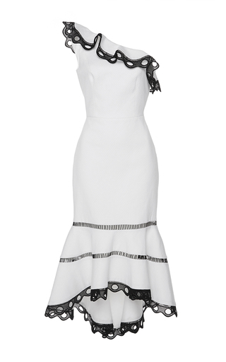Medium alexis white christie one shoulder dress