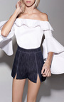 White Michelle Ruffle Top by ALEXIS Now Available on Moda Operandi