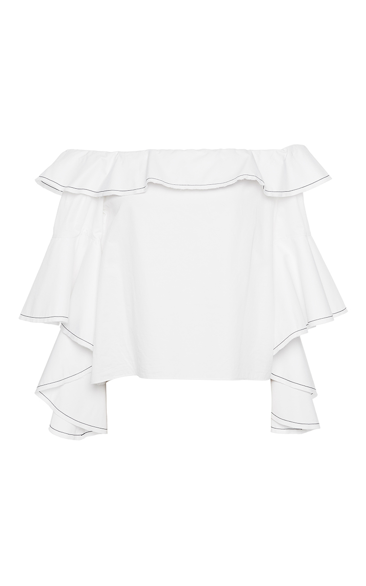 d7ee6457647738 AlexisWhite Michelle Ruffle Top. CLOSE. Loading