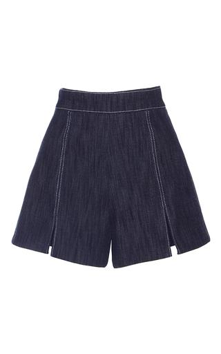 Medium alexis blue meghan split shorts
