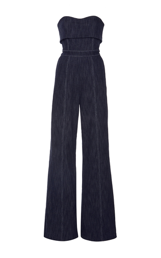 Medium alexis dark wash allen strapless jumpsuit