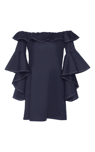 Medium alexis navy navy rachel ruffle dress