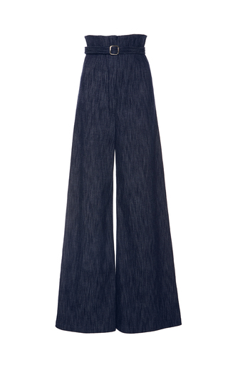 Medium alexis blue pauline belted trousers
