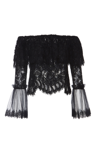 Laurena Black  Lace Top by ALEXIS Now Available on Moda Operandi