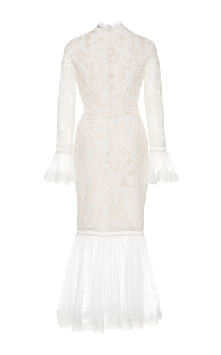 White Lettice Lace Dress by ALEXIS Now Available on Moda Operandi