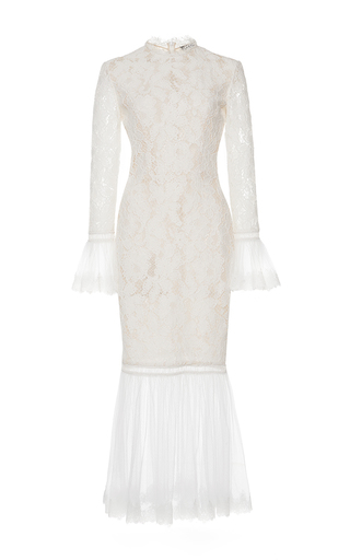 Medium alexis white white lettice lace dress
