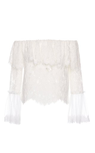 Medium alexis ivory laurena ivory lace top