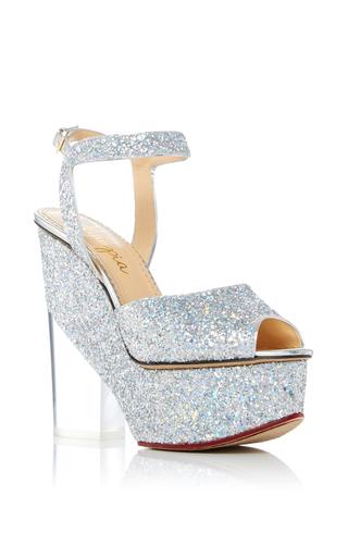 Medium charlotte olympia silver leandra platform sandals