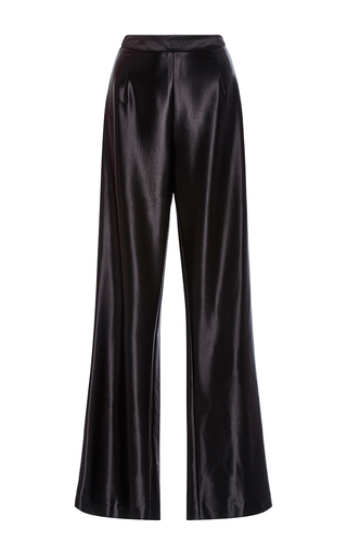Medium kaelen black grosgrain satin track pants