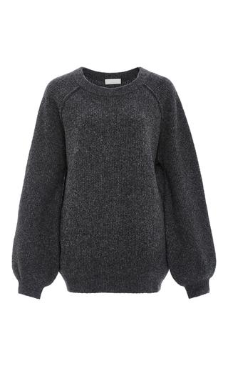 Medium kaelen dark grey ribbed wool pullover