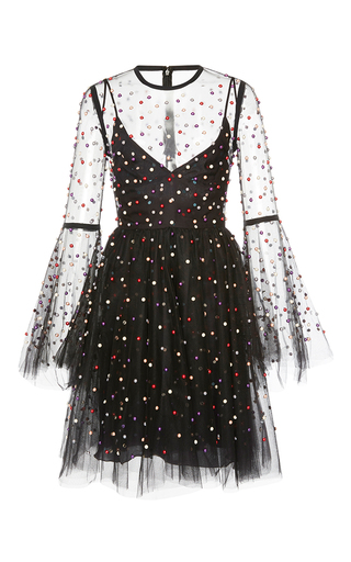 Medium elie saab black tulle mini dress