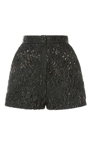 Medium elie saab black jacquard mini short