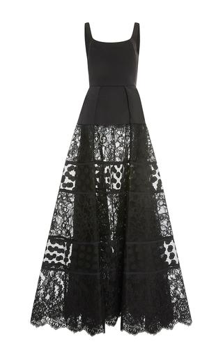 Medium elie saab black a line lace skirt gown