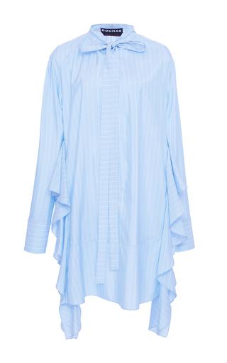 Medium rochas blue neck tie ruffle dress