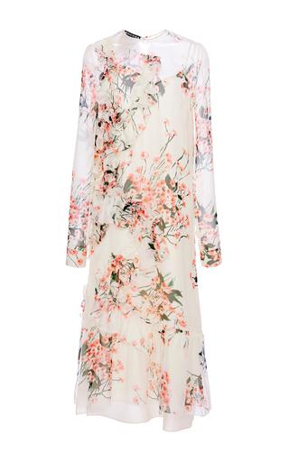 Medium rochas floral long sleeve floral dress