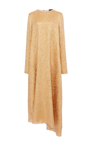 Medium rochas gold asymmetric metallic dress