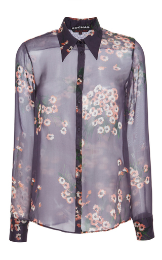 Medium rochas floral floral button down shirt
