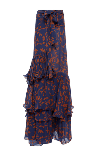 Medium johanna ortiz print laeta tiered skirt