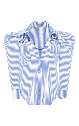 Medium johanna ortiz stripe sethe embroidered button up shirt
