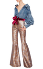 Principe De Conde Metallic Pants by JOHANNA ORTIZ Now Available on Moda Operandi