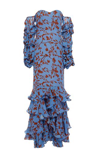 Medium johanna ortiz print kingston embellished off the shoulder dress