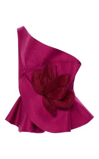 Medium johanna ortiz pink madame pompadour one shoulder top