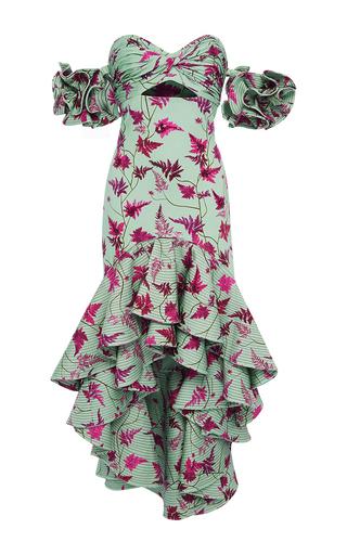 Medium johanna ortiz print clarissa dalloway embellished high low dress