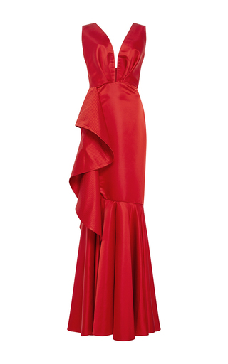 Medium johanna ortiz red princess victoria mermaid gown
