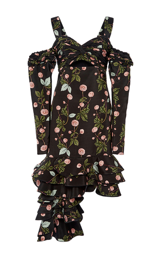 Medium johanna ortiz floral valeria messalina cold shoulder dress