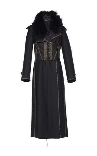 Medium ellery black precursor corset trench