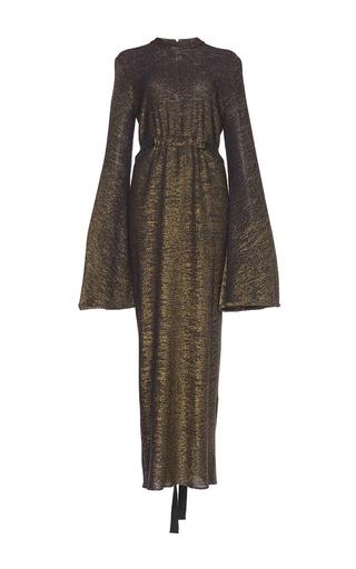 Medium ellery gold gasp jersey flute sleeve dress