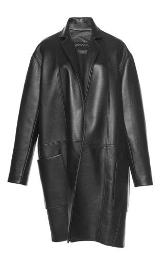 Medium ellery black effigy man style leather coat