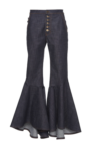 Hysteria Crop Full Flare Pant by ELLERY Now Available on Moda Operandi