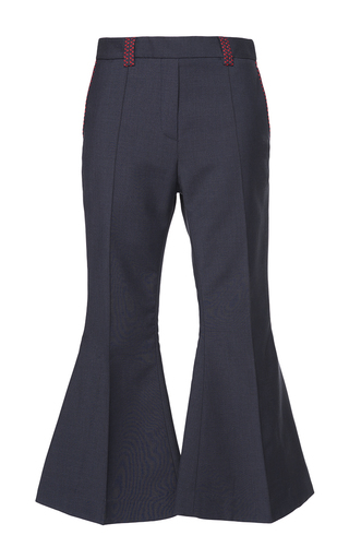 Medium ellery navy wasp crop flare pant
