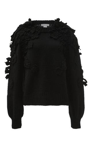 Medium spencer vladimir black winter bloom sweater