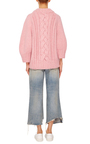 The Rose Cable Knit Fringe Sweater by SPENCER VLADIMIR Now Available on Moda Operandi