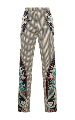 Medium mary katrantzou tan labyrinth embroidered trouser